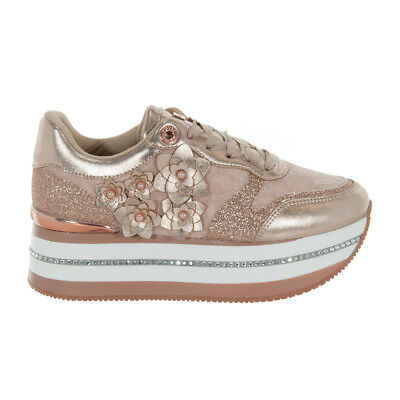 reputable site c7d22 b60f2 SCARPE GUESS DONNA Sneaker Hinder Active Pizzo Rose Fl5Hinlac12