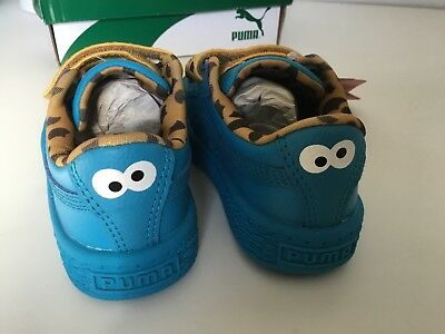Puma x Sesame Street Basket Mono V Cookie Monster blue Toddler shoes  sneakers 63abc2f83