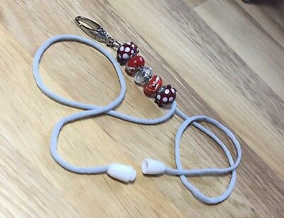 HANDMADE EURO BEAD LANYARD / ID CARD HOLDER With Safety Pull Clasp