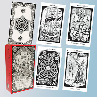 THE HERMETIC TAROT CARD DECK  by GODFREY DOWSON SECRET ORDER OF GOLDEN DAWN