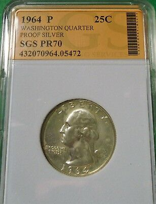 Nice 1964 Washington Quarter 90% Silver Proof # 05472 As Pictured