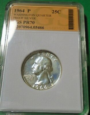 Nice 1964 Washington Quarter 90% Silver Proof # 05466 As Pictured