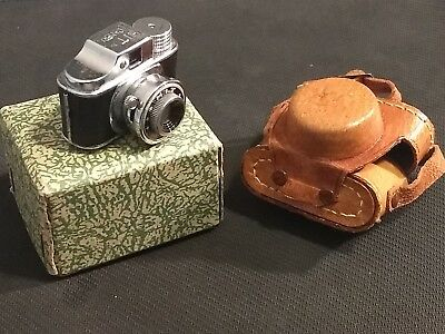 Vintage Hit Mini Spy Camera NOS in Box! With Case! Made in Japan Mint!