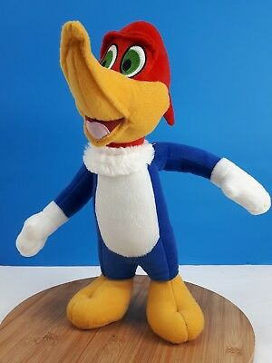 "Woody Woodpecker Plush Stuffed Animal Embroidered Eyes Toy Doll 14"" Toy Factory"