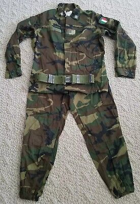 Euc Italian Military Uniform Pants Jacket Belt Size M/l Color Green Camouflage