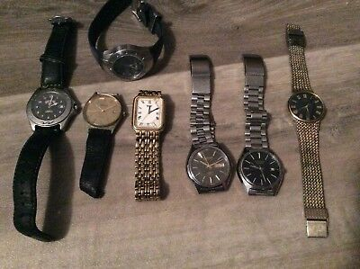 VINTAGE WATCHES x7 BILLABONG SEIKO CITIZEN VERITAS WATCH RARE CHEAP AUS