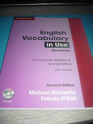 ENGLISH VOCABULARY IN USE Elementary 2nd edition NEW + CD-rom Cambridge