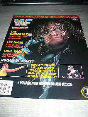 WWE WWF MAGAZINE official 7/93 Hulk Undertaker Bret VERY RARE Luger used