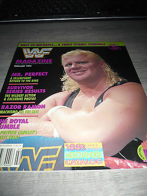 WWE WWF MAGAZINE official 2/93 Perfect Razor VERY RARE Hart Michaels used