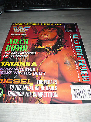 WWE WWF MAGAZINE official 5/94 Adam Bomb VERY RARE Tatanka Diesel used