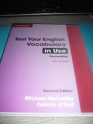TEST YOUR ENGLISH VOCABULARY IN USE Elementary 2nd edition NEW Cambridge