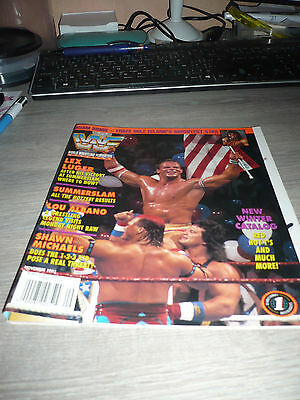 WWE WWF MAGAZINE official 11/93 Adam Bomb VERY RARE Luger Michaels used