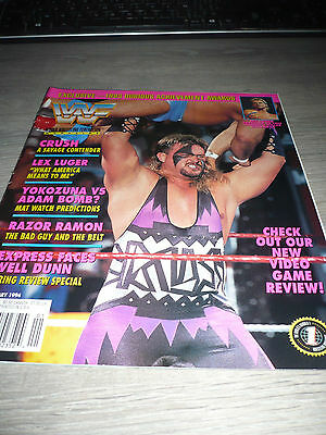 WWE WWF MAGAZINE official 1/94 Crush VERY RARE Yokozuna Lex Luger Razor used