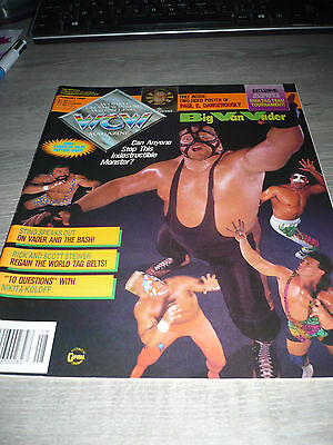 WCW MAGAZINE official 8/92 Vader VERY RARE OOP Steiners Sting used