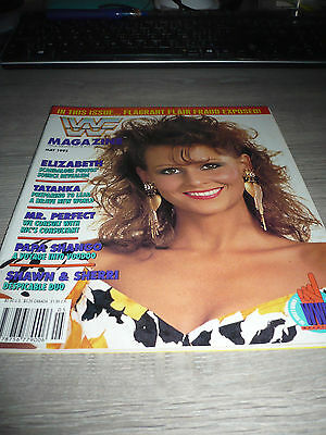 WWE WWF MAGAZINE official 5/92 Elizabeth VERY RARE Tatanka Shango Perfect used