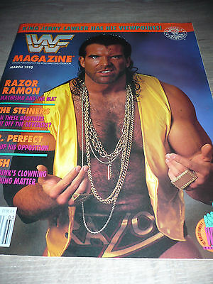 WWE WWF MAGAZINE official 3/93 Razor ramon VERY RARE Steiners Perfect Crush used