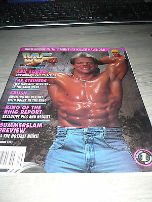 WWE WWF MAGAZINE official 9/93 Luger VERY RARE Steiners Hulk Crush  used