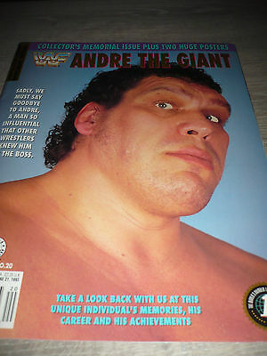 WWE WWF MAGAZINE official 6/93 Andre the Giant VERY RARE special issue used
