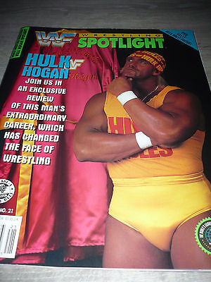 WWE WWF SPOTLIGHT official 5/93 Hulk Hogan Poster VERY RARE OOP used