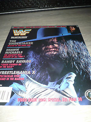 WWE WWF MAGAZINE official 3/94 Hart VERY RARE Undertaker Michaels Macho man used