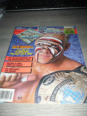 WCW MAGAZINE official 7/92 Sting VERY RARE OOP Rick Rude used