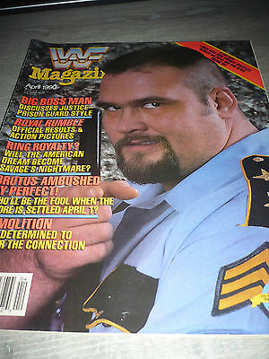 WWE WWF MAGAZINE official 4/90 Big boss man VERY RARE Brutus used