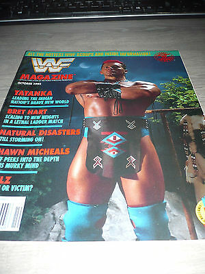 WWE WWF MAGAZINE official 10/92 Bret Hart VERY RARE Tatanka Disasters Nailz used