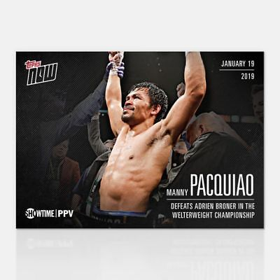 2019 Topps NOW Showtime Championship Boxing PVB-4 Manny Pacquiao