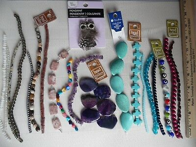 Huge Lot Beads - 20 Stands Lampwork, Gemstone, Glass- WHOLESALE Jewelry Supply