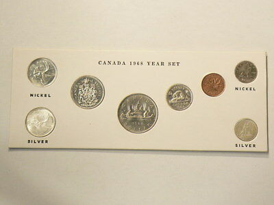 1968 Canada Uncirculated Year Set  All 8 Coins Are Mint State Grade #G1119