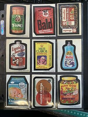 1974 Topps Wacky Packages Original 4th  Series Complete Set High Grade 33/33