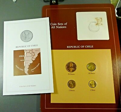 Franklin Mint Coin Sets of All Nations; CHILE Free Shipping!