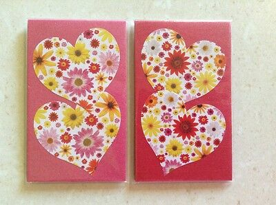 MAGNETIC BOOKMARKS - Handmade - Hearts