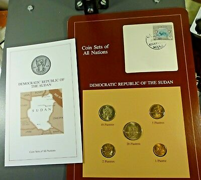 Franklin Mint Coin Sets of All Nations; REPUBLIC OF THE SUDAN Free Shipping!