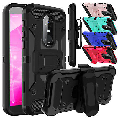 For Alcatel T-Mobile Revvl 2/Alcatel 3 Belt Clip Kickstand Hard Phone Case Cover