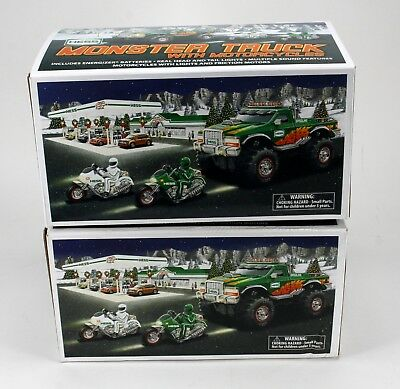2-2007 Hess Monster Trucks In Original Box With Inserts