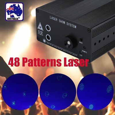 48 Patterns RGB Laser Projector Stage Light LED Party DJ Disco Dynamic BG