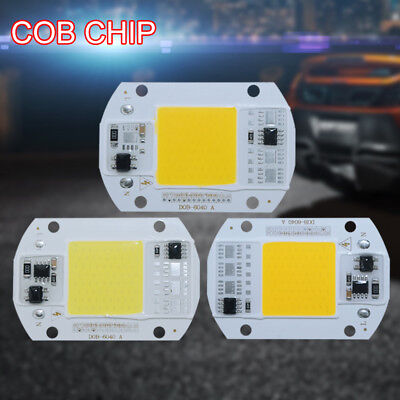 110v 220v LED Floodlight 20W 30W 50W Cool White COB Chip Smart IC Driver Lamp