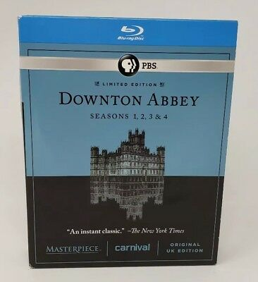 Masterpiece: Downton Abbey Blu-Ray Seasons 1, 2, 3 & 4 Free Shipping