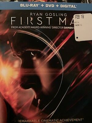 First Man 2018 Ryan Gosling Blu Ray And DVD/Case Slipcover & Artwork. No digital