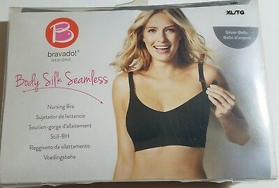 3e605512dc NEW Bravado Designs Womens Body Silk Seamless Nursing Bra ~ Silver Belle ~  XL TG