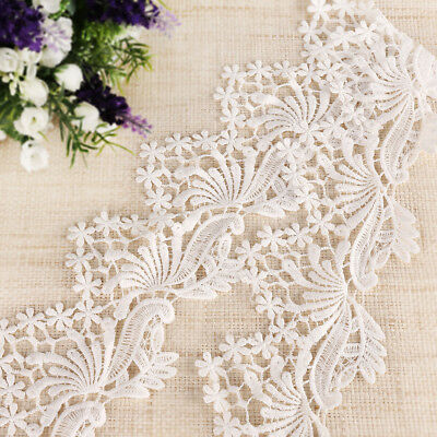 10 yards 9,14m Dentelle blanc polyester couture décoration #456