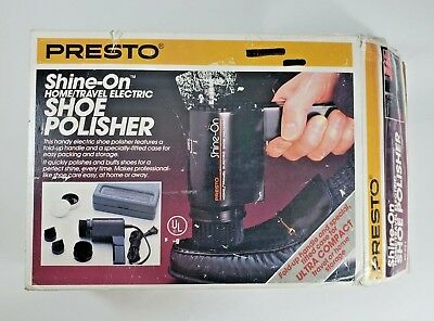 Presto Shine-On Home/travel Electric Shoe Polisher-08701
