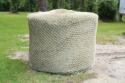 "Slow Horse Hay Round Bale Net Feeder Eliminates Waste 1 1/2""  #60  Fits 6' x 5'"
