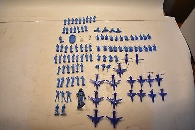 Nice Vintage Rare Lot Of 107 Blue Plastic REMCO Mighty Matilda Figures 1960's US