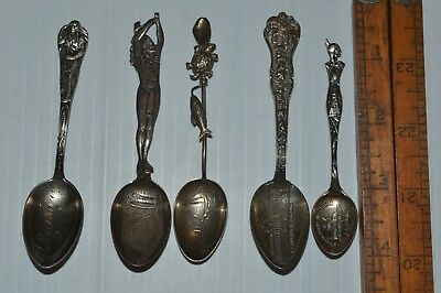 CollectableLot Of 5 SmallSterling Souvenir Spoons
