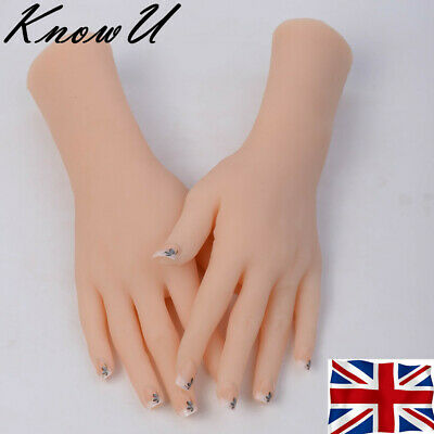 Silicone Female Hand Finger Mannequin Display Jewelry Model Props 1PC UK stock