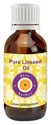 Linseed Oil Linum usitatissimum 100% Pure Natural Cold Pressed Therapeutic Grade