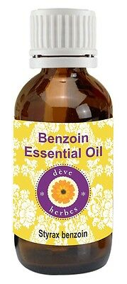 Benzoin Essential Oil Styrax benzoin 100% Pure Natural Steam Distilled Undiluted