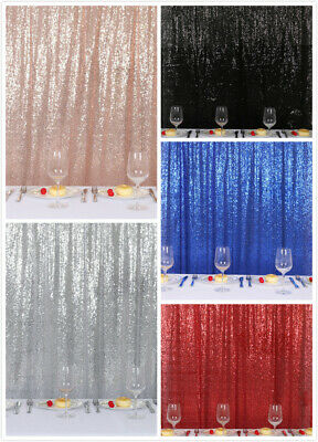 Black Sequin Curtain Backdrop Bling Fabric Backdrop Sparkly Photography Background Backdrop for Halloween Decorations